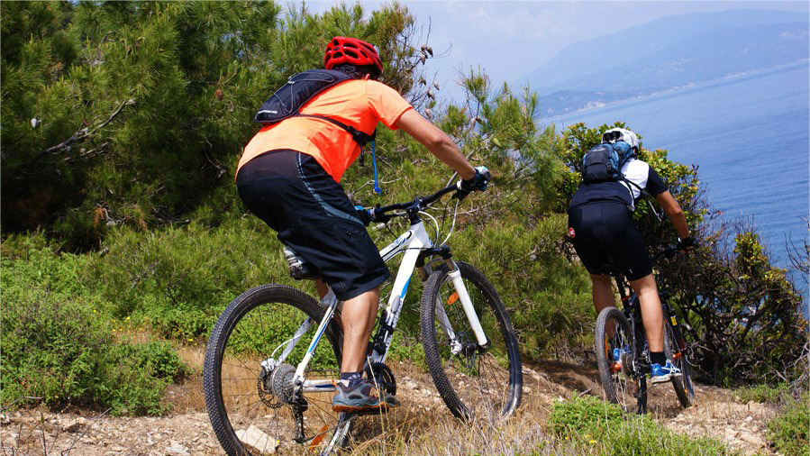 mountain biking photo in Skiathos
